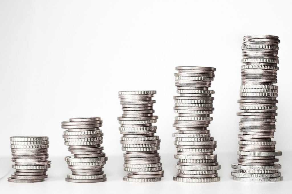 Stapel mit Münzen